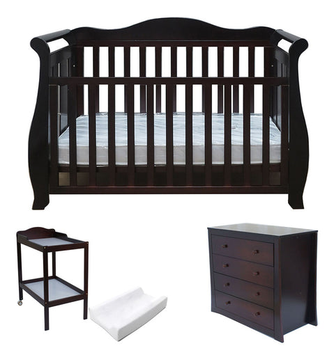 Babyworth BW05 Royal Sleigh Cot Change Table Chest Package