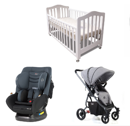 Babyworth B2W Classic Cot+Mother's Choice Adore Car Seat Valco Baby Ultra Snap Pram+Mattress