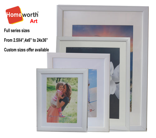 Homeworth   Photo Frames Certificate Frames A4 A3 A2 4X6 5X7 8X10 11X14 12X16 16X20 20X24 White Color