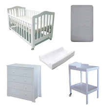 Load image into Gallery viewer, Babyworth B2 Classic Cot Change Table Chest Package