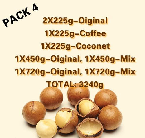 Nucare MACADAMIA NUT BAR MIX PACK 4