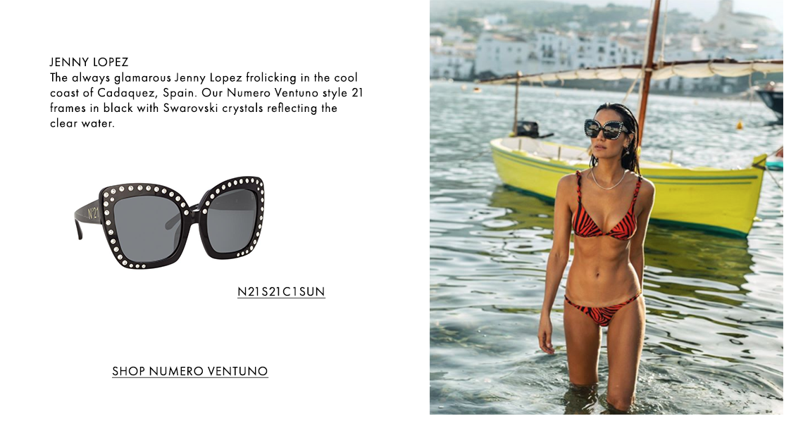 N°21 S21 C1 OVERSIZED SUNGLASSES as seen on Jenny Lopez