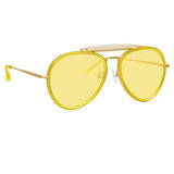Dries Van Noten 188 C2 Aviator Sunglasses