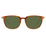 Linda Farrow Linear Wright A C11 Rectangular Sunglasses