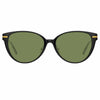 Linda Farrow Linear Arch C7 Cat Eye Sunglasses