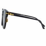 Linda Farrow Linear Arch A C7 Cat Eye Sunglasses