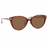 Linda Farrow Linear Arch A C8 Cat Eye Sunglasses