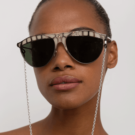 Huston Aviator Sunglasses in Light Gold