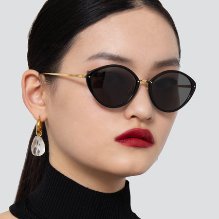 Lucy Cat Eye Sunglasses in Black