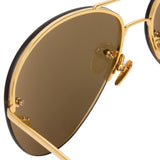 Linda Farrow 574 C1 Aviator Sunglasses