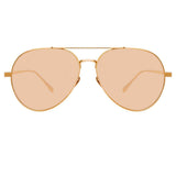 Linda Farrow Staveley C6 Aviator Sunglasses