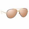 Linda Farrow Salem C17 Aviator Sunglasses