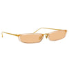 Linda Farrow Issa C8 Rectangular Sunglasses
