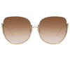 Linda Farrow Kennedy C6 Oversized Sunglasses