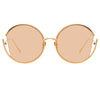 Linda Farrow Quarry C6 Round Sunglasses