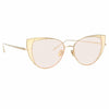 Linda Farrow 855 C9 Cat Eye Sunglasses