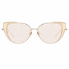 Linda Farrow Des Vouex C9 Cat Eye Sunglasses
