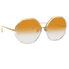 Linda Farrow Alona C9 Oversized Sunglasses