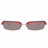 Linda Farrow Leona C3 Rectangular Sunglasses