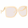 Linda Farrow Dare C4 Oversized Sunglasses