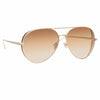 Linda Farrow Ace C5 Aviator Sunglasses