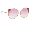 Matthew Williamson Orchid C4 Oversized Sunglasses