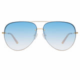 Matthew Williamson Clover C3 Aviator Sunglasses