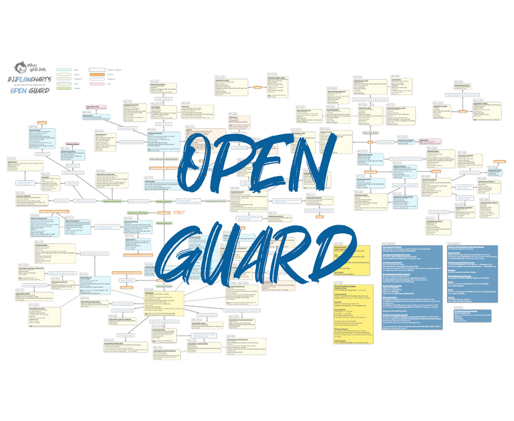 BJJFlowCharts-Flow Chart of Danaher's Open Guard Jiu-Jitsu System