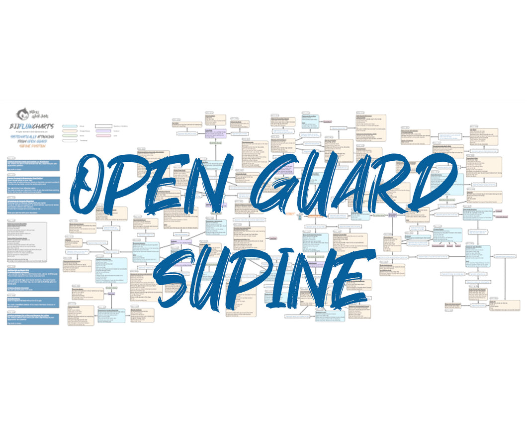 BJJFlowCharts-Flow Chart of Gordon Ryan's Open Guard Supine Jiu-Jitsu System