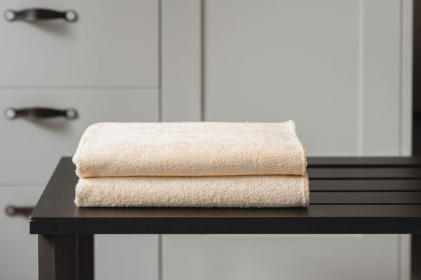 DOUBLE BATH TOWEL - RUST CREAM