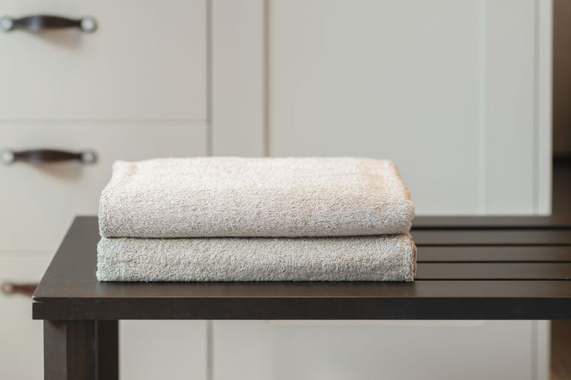 DOUBLE BATH TOWEL - BURNT GREY