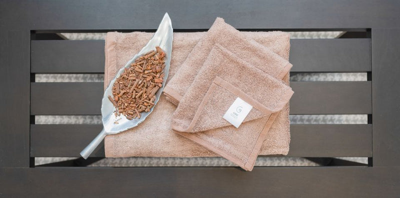 AYURVEDIC BATH TOWEL - HAZEL BROWN