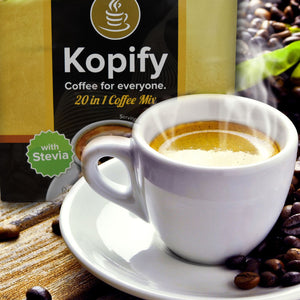 Kopify 20 in 1 Instant Coffee Mix with Gluta and Collagen Zero Sugar (10 sachets per box)