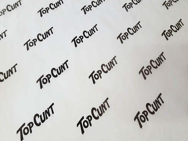 Top Cunt Wrapping Paper