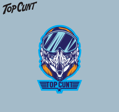 Top Cunt Pilot Sticker 66x100mm