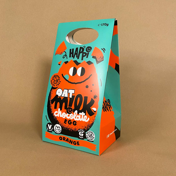 Happi Oat M!lk Chocolate Egg - Orange