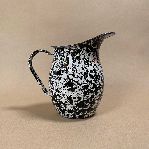 Splatterware pitcher Black and White