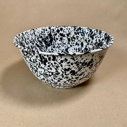 Splatterware Large Enamel Bowl