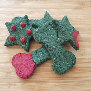 All natural Christmas Dog Biscuit Gift Pack - Un Iced