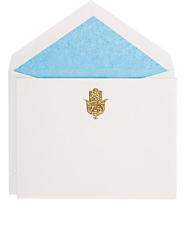 Hand of Fatima Card Set - Pacific Blue Tissue - Madeline Weinrib Limited Edition Collaboration