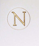 Connor Monogram Letter N Stationery