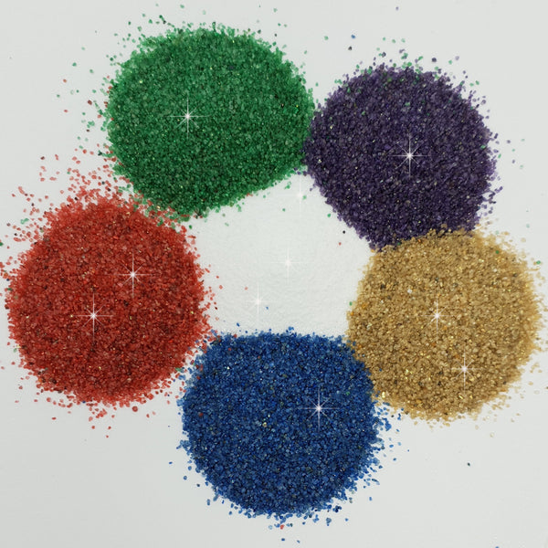 Sparkle Glitter Craft Sand Shakers (Pack of 6)