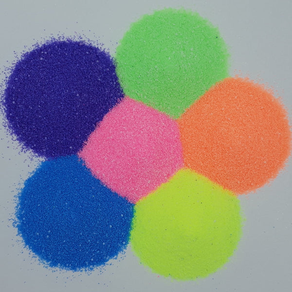 Fluorescent Craft Sand Shakers (Pack of 6)