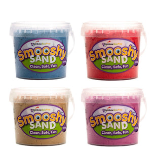 Smooshy Sand (6 Colours) - 4 X 300G Tubs Blue Red Natural Purple