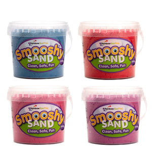 Smooshy Sand (6 Colours) - 4 X 300G Tubs Blue Red Pink Purple