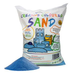 Coloured Play Sand - 1 x 15kg Bag (8 Colours Available)