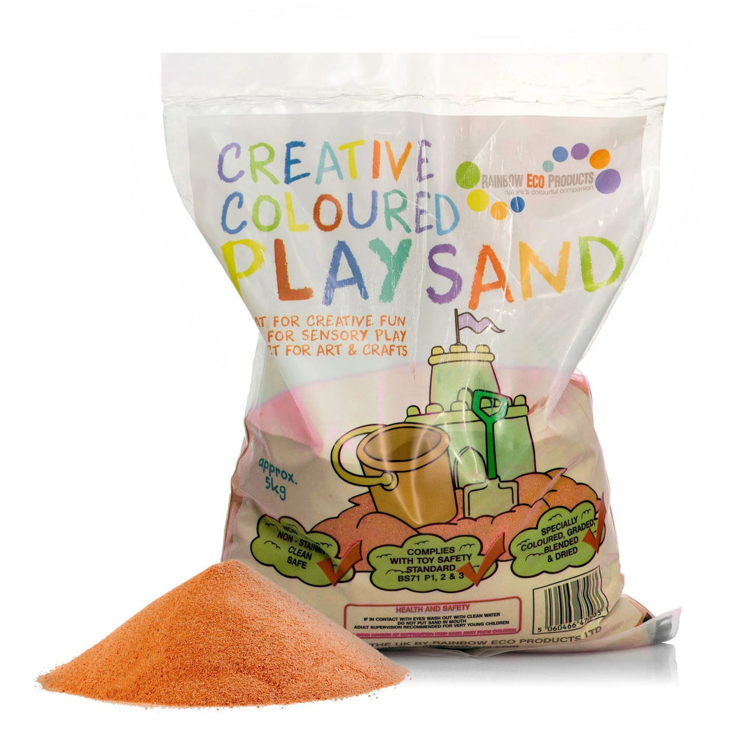 Orange Halloween Play Sand - 5kg or 15kg Bag