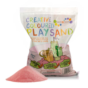 Coloured Play Sand - 4 x 5kg Bags (Blue, Purple, Red, Orange)