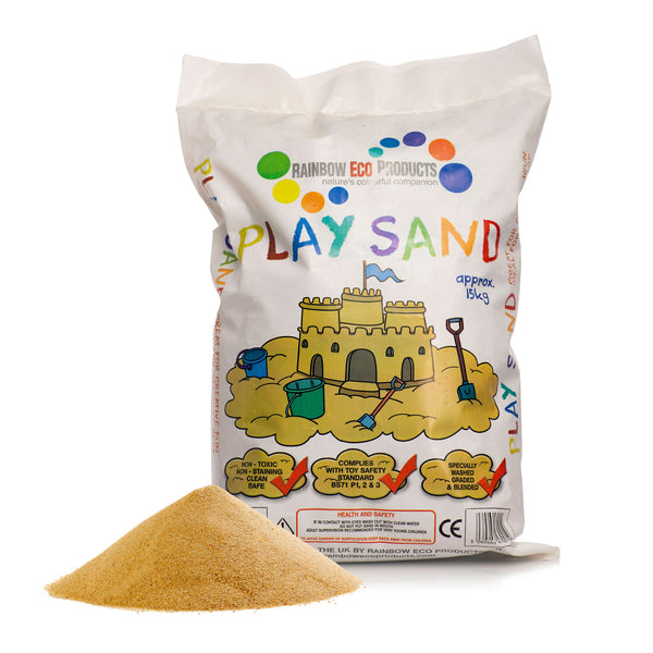 Natural Play Sand - 25 x 15kg Bags - POA