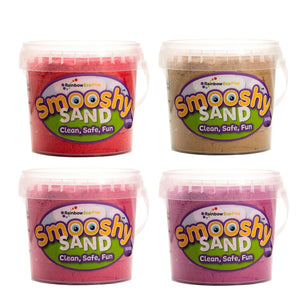 Smooshy Sand (6 Colours) - 4 X 300G Tubs Red Natural Pink Purple
